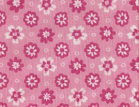 Retro Pink Flower Fabric